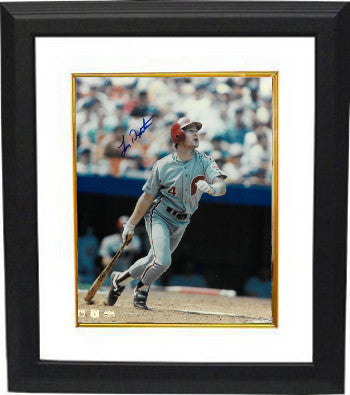 Lenny Dykstra signed Philadelphia Phillies 8X10 Photo Custom Framing PSM-Powers Sports Memorabilia
