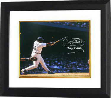 Cecil Fielder signed Detroit Tigers 16x20 Photo Custom Framing Big Daddy (swinging bat- horizontal) PSM-Powers Sports Memorabilia