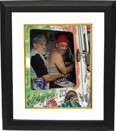 Cheech Marin signed Up in Smoke 8x10 Photo w/ Tommy Chong Custom Framed (vertical)- JSA Hologram # T40101 (movie/entertainment) PSM-Powers Sports Memorabilia