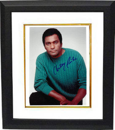 Charley Pride signed 8x10 Photo Custom Framed (white border)- PSA/JSA/BAS Guaranteed To Pass PSM-Powers Sports Memorabilia