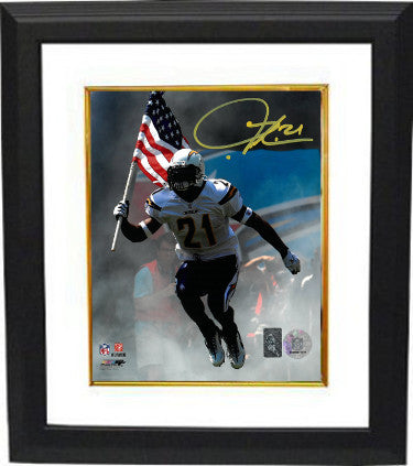 Ladainian Tomlinson signed San Diego Chargers 8x10 Photo Custom Framing- Tomlinson Hologram PSM-Powers Sports Memorabilia