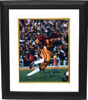 Charles White signed USC Trojans 8x10 Photo 79 Heisman Custom Framing PSM-Powers Sports Memorabilia