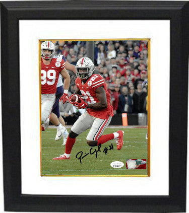 Parris Campbell signed Ohio State Buckeyes NCAA 8X10 Photo #21 Custom Framing- JSA (red jersey) PSM-Powers Sports Memorabilia
