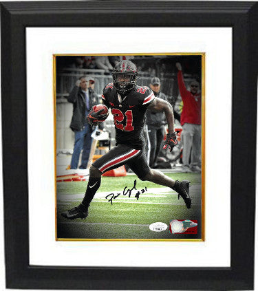 Parris Campbell signed Ohio State Buckeyes NCAA 8X10 Photo Custom Framing #21- JSA (black jersey) PSM-Powers Sports Memorabilia