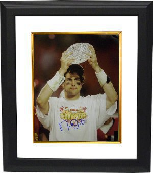 Matt Leinart signed USC Trojans 16x20 Photo w/ Trophy Custom Framing - Leinart Hologram PSM-Powers Sports Memorabilia