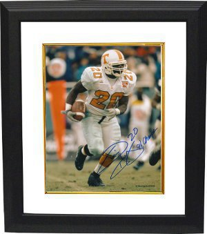 Travis Henry signed Tennessee Volunteers 8x10 Photo Custom Framing #20 98 Champs (white jersey) PSM-Powers Sports Memorabilia