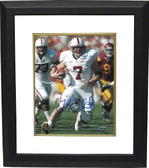 Toby Gerhart signed Stanford Cardinal 8x10 Photo Custom Framing - Tristar Hologram PSM-Powers Sports Memorabilia