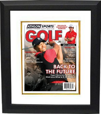 Tiger Woods 2012 Athlon Sports PGA Golf Magazine Cover Custom Framed PSM-Powers Sports Memorabilia