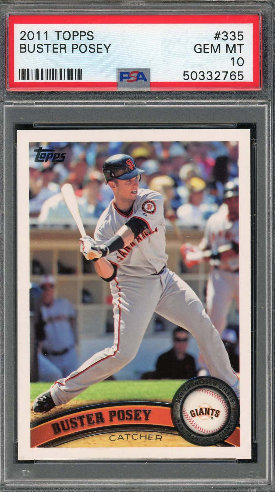 Buster Posey San Francisco Giants 2011 Topps Baseball Card #335 Graded PSA 10 GEM MINT-Powers Sports Memorabilia
