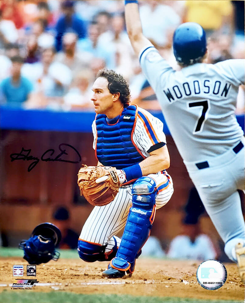 Gary Carter Signed New York Mets Catcher 8x10 Photo PSM-Powers Sports Memorabilia