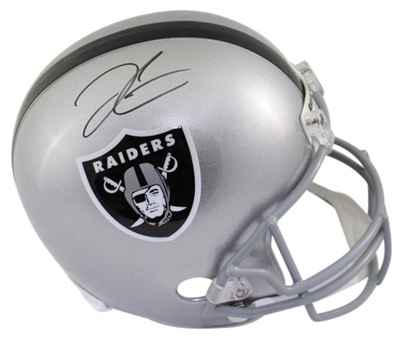 Derek Carr Autographed Oakland Raiders Full Size Replica Helmet BAS PSM-Powers Sports Memorabilia