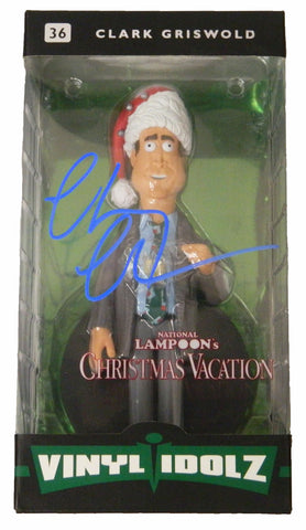 Chevy Chase Signed Christmas Vacation Clark Griswold Vinyl Idolz Doll PSM-Powers Sports Memorabilia