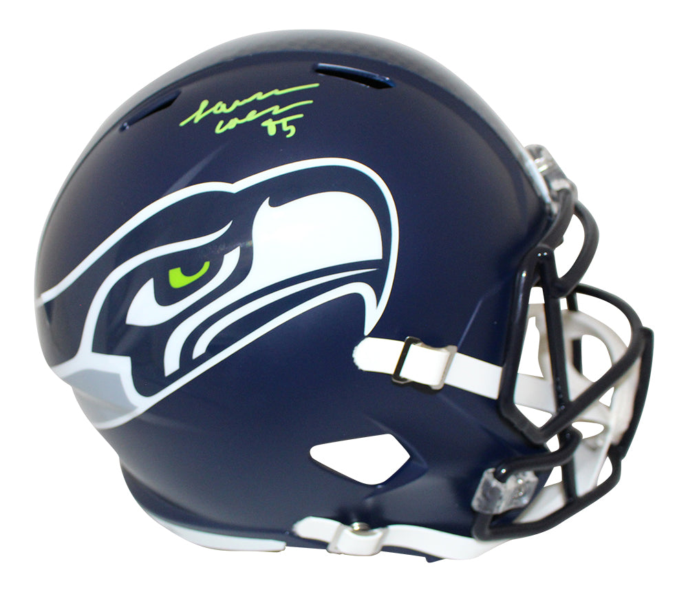 LJ Collier Autographed/Signed Seattle Seahawks Speed Replica Helmet JSA PSM-Powers Sports Memorabilia