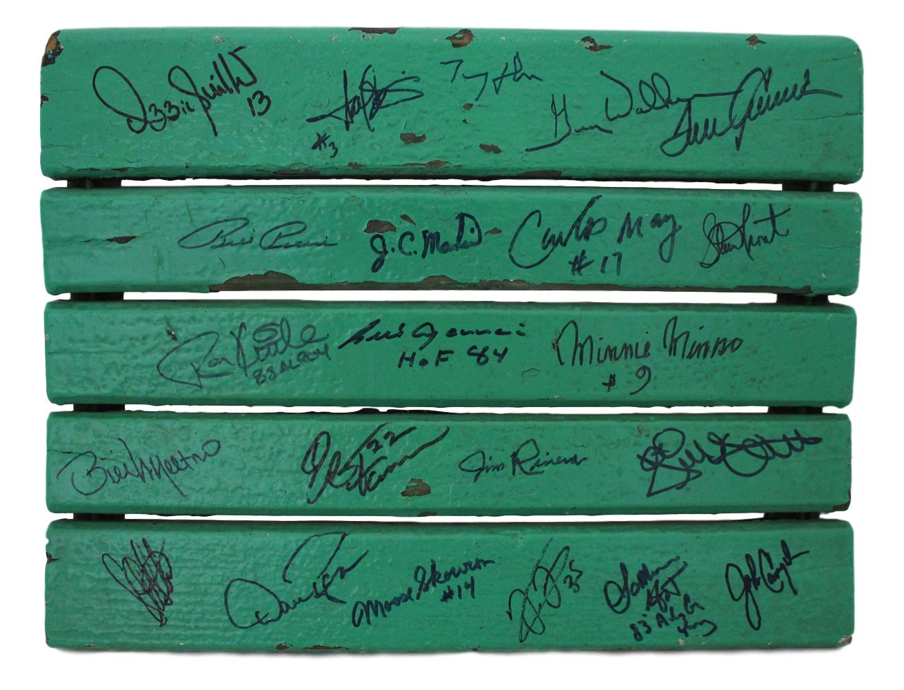 Chicago White Sox Signed Comiskey Park Seat Bottom 22 Sigs Minoso Skowron PSM-Powers Sports Memorabilia