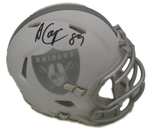Amari Cooper Autographed Oakland Raiders Riddell Ice Mini Helmet JSA PSM-Powers Sports Memorabilia