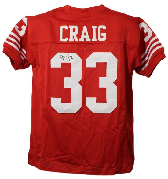 Roger Craig Autographed San Francisco 49ers Size XL Red Jersey Jsa PSM-Powers Sports Memorabilia