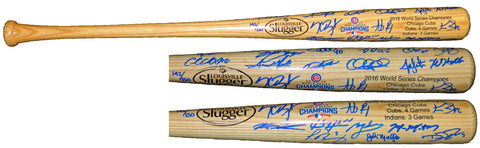 2016 Chicago Cubs Team Signed Louisville Slugger 2016 World Series Champion Logo Baseball Bat (23 Sigs) PSM-Powers Sports Memorabilia