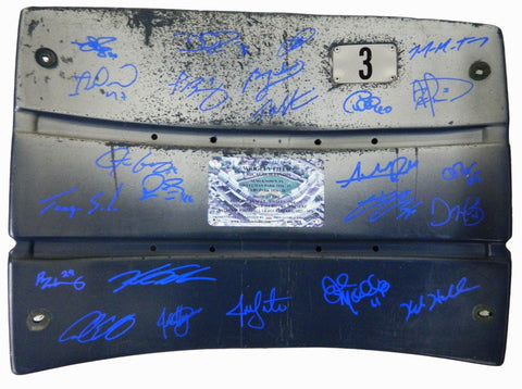 2016 Chicago Cubs Team Signed Wrigley Field Stadium Seat Back (24 Sigs) PSM