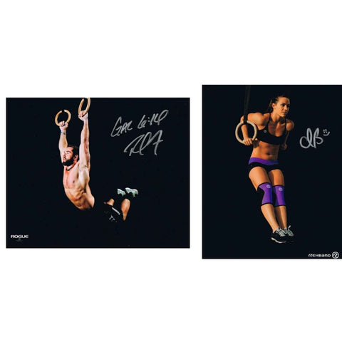 Camille Leblanc-Bazinet & Rich Froning Autographed Muscle Up Signed 8x10 Photo-Powers Sports Memorabilia