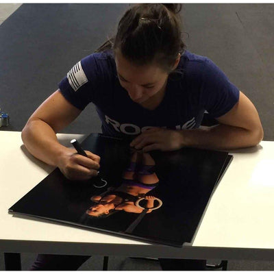 Camille Leblanc-Bazinet Autographed Muscle Up Signed 16x20 Photo Photo-Powers Sports Memorabilia