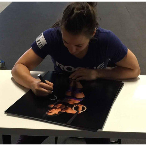 Camille Leblanc-Bazinet & Rich Froning Autographed Muscle Up Signed 16x20 Photo-Powers Sports Memorabilia