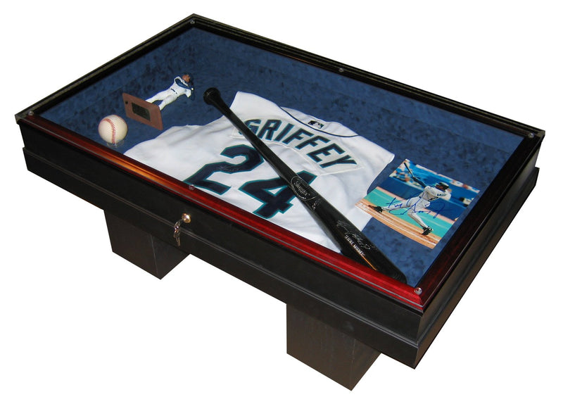HOMEPLATE HEROES ALL SPORTS COFFEE TABLE DISPLAY CASE-Powers Sports Memorabilia