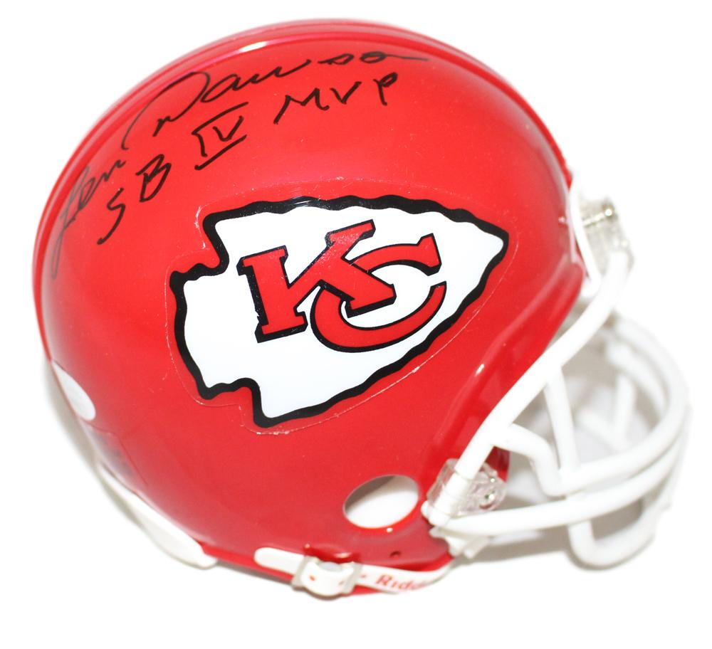 Len Dawson Autographed Kansas City Chiefs Mini Helmet SB MVP JSA PSM-Powers Sports Memorabilia