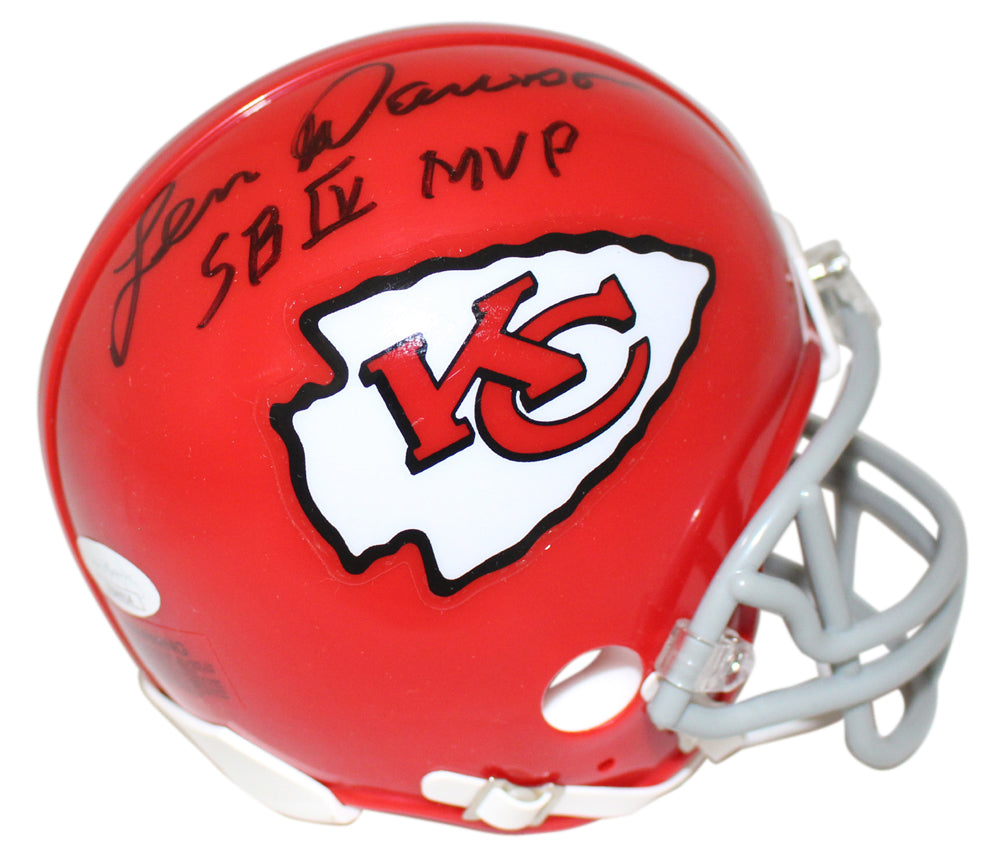 Len Dawson Autographed Kansas City Chiefs TB Mini Helmet SB MVP JSA PSM-Powers Sports Memorabilia