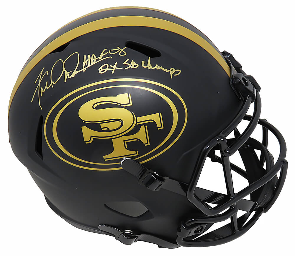 Fred Dean Signed San Francisco 49ers Eclipse Riddell Full Size Speed Replica Helmet w/HOF'08, 2x SB Champs PSM-Powers Sports Memorabilia