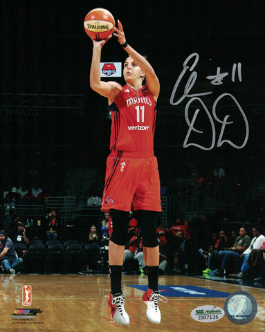 Elena Delle Donne Autographed Washington Mystics 8x10 Photo Red SGC PSM-Powers Sports Memorabilia
