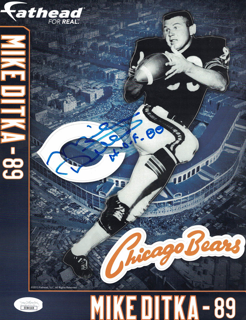 Mike Ditka Autographed Chicago Bears Fathead SGA Retirement Night JSA PSM-Powers Sports Memorabilia