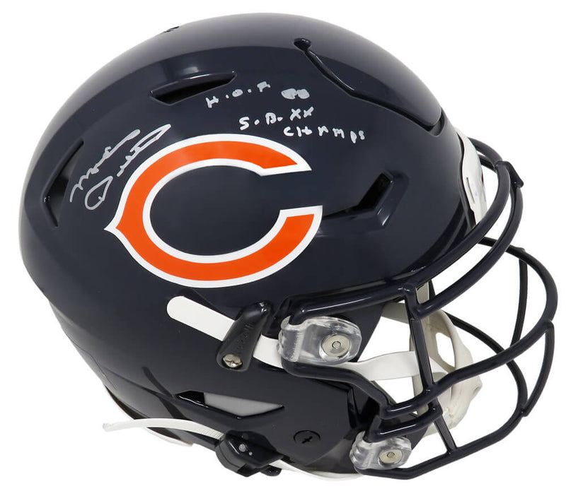 Mike Ditka Signed Chicago Bears SpeedFlex Authentic Football Helmet w/HOF'88 & SB XX Champs PSM-Powers Sports Memorabilia