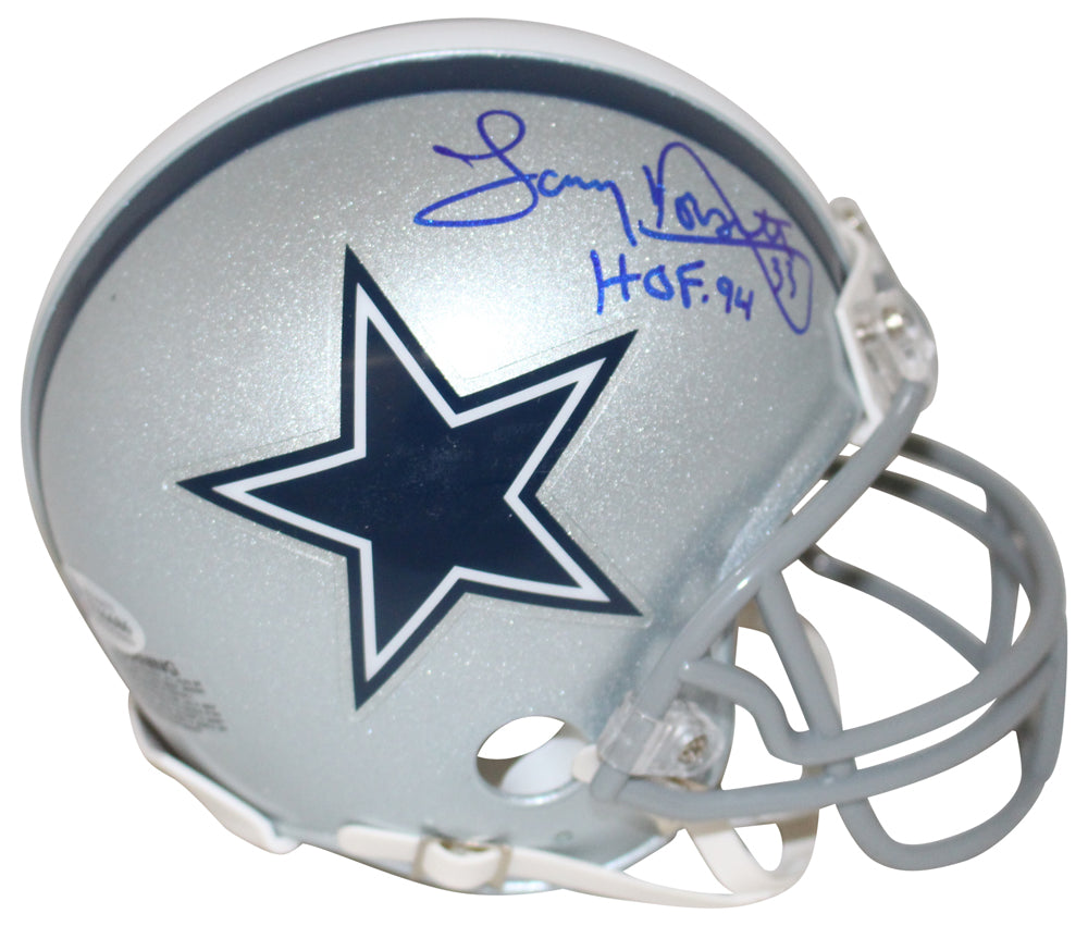 Tony Dorsett Autographed/Signed Dallas Cowboys Mini Helmet HOF BAS PSM-Powers Sports Memorabilia