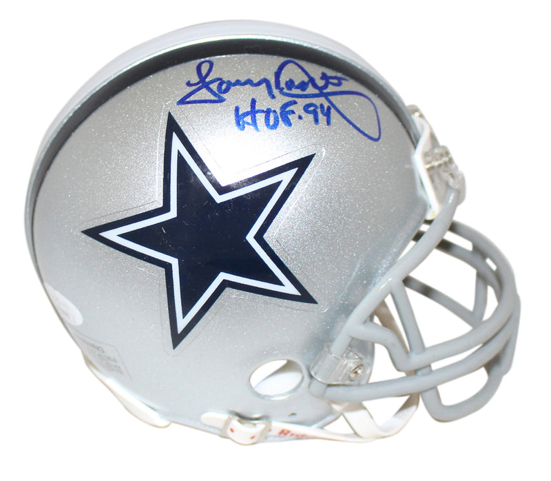 Tony Dorsett Autographed/Signed Dallas Cowboys Mini Helmet HOF JSA PSM