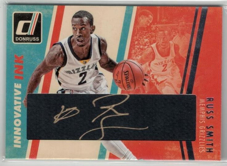 Russ Smith Memphis Grizzlies 2015-16 Donruss Innovative Ink Autograph-Powers Sports Memorabilia