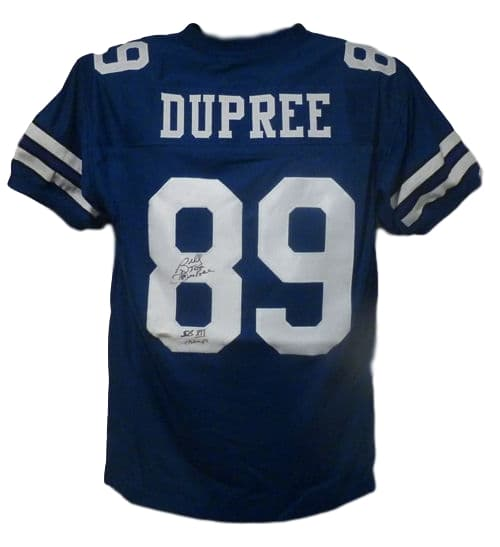 Billy Joe Dupree Autographed Dallas Cowboys blue size XL jersey w/XII Champs PSM-Powers Sports Memorabilia