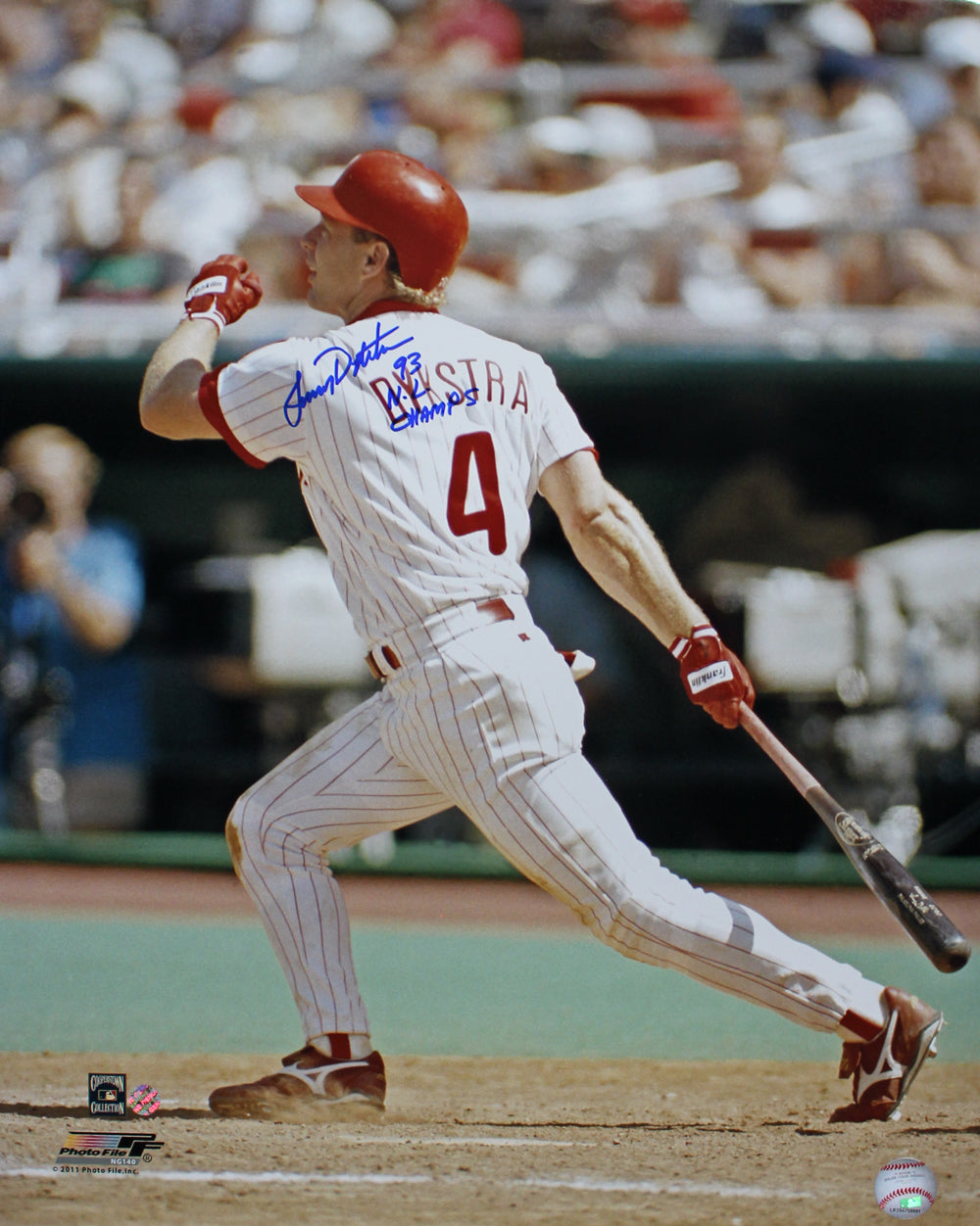 Lenny Dykstra Autographed Philadelphia Phillies 16x20 Photo NL Champs PSM-Powers Sports Memorabilia