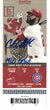Carl Edwards Autographed Chicago Cubs Ticket 9/7/2015 MLB Debut JSA PSM-Powers Sports Memorabilia