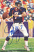 John Elway Autographed/Signed Denver Broncos Goal Line Art Card Blue PSM-Powers Sports Memorabilia