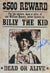 Emilio Estevez Signed Billy The Kid 13x19 Wanted Poster PSM-Powers Sports Memorabilia