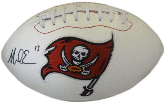 Mike Evans Autographed Tampa Bay Buccaneers white logo football JSA PSM-Powers Sports Memorabilia