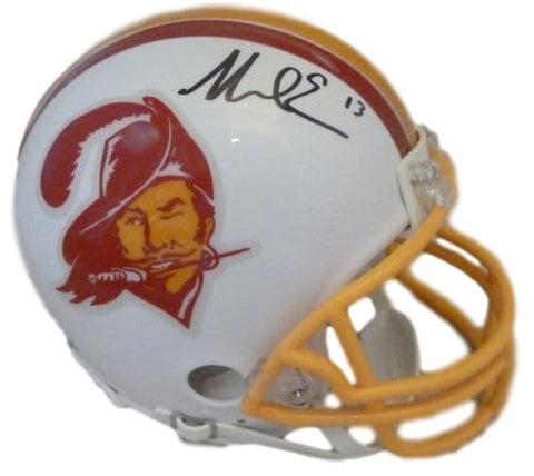 Mike Evans Autographed Tampa Bay Buccaneers T/B mini helmet JSA PSM-Powers Sports Memorabilia