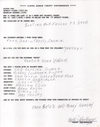 Boots Poffenberger Autographed Hand Filled Out Survey Page (JSA) PSM-Powers Sports Memorabilia