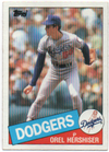 Orel Hershiser 1985 Topps Card PSM-Powers Sports Memorabilia
