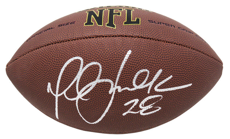 Marshall Faulk Signed Wilson Super Grip Full Size NFL Football PSM-Powers Sports Memorabilia