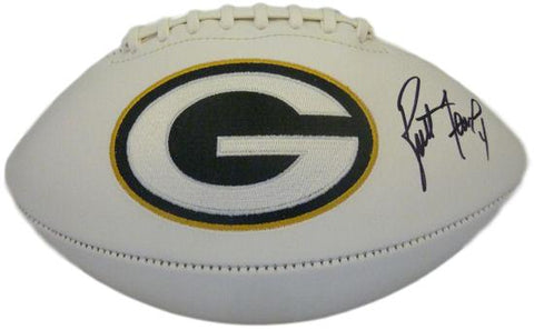 Brett Favre Autographed Green Bay Packers White Panel Football PSA/DNA PSM-Powers Sports Memorabilia