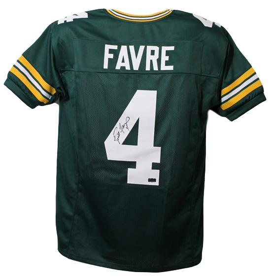 Brett Favre Autographed Green Bay Packers green size XL jersey PSM-Powers Sports Memorabilia