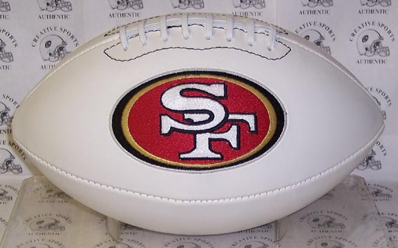 "San Francisco 49ers Embroidered Logo ""Signature Series"" Football PSM-Powers Sports Memorabilia"