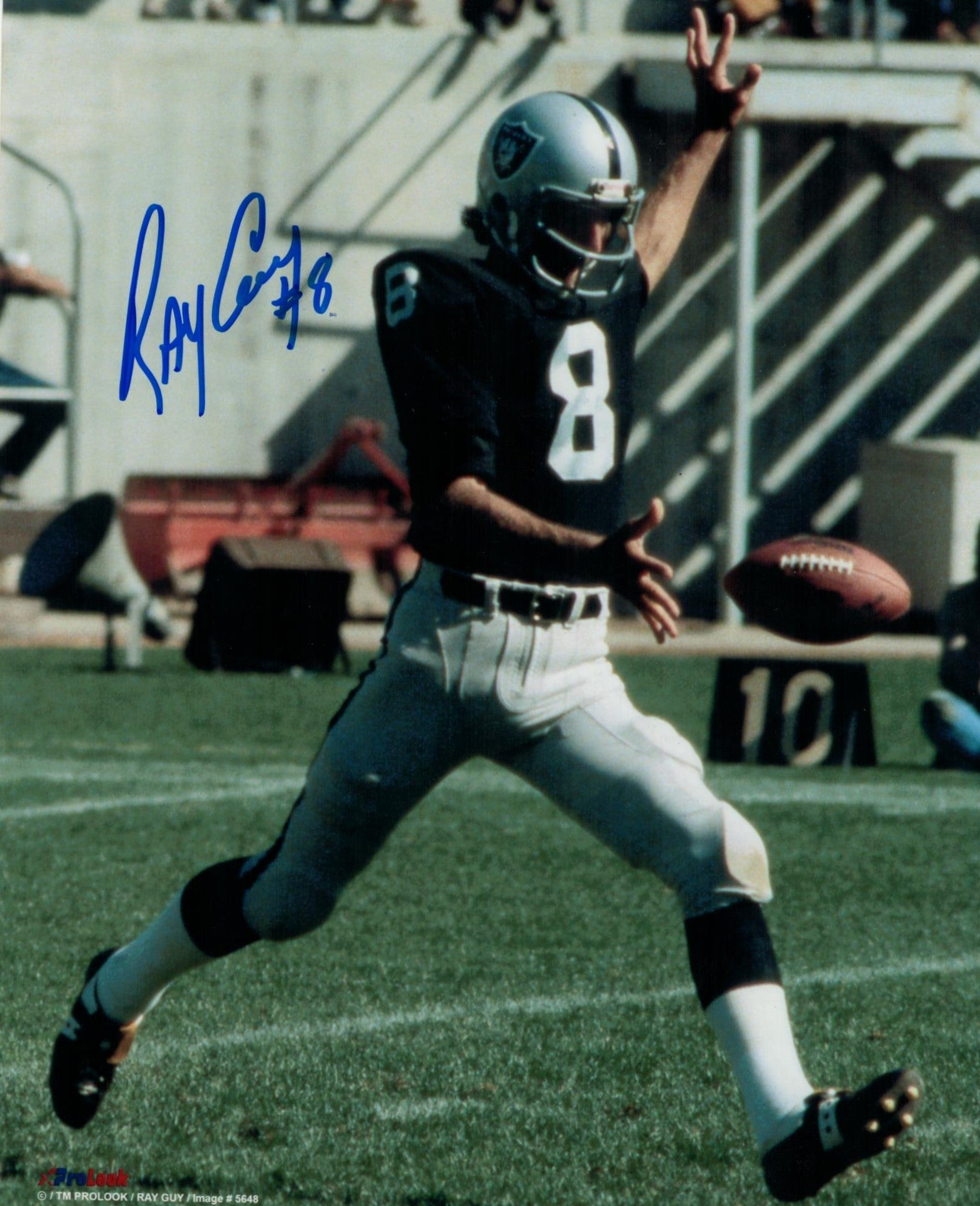 Ray Guy Oakland Raiders Autographed 8x10 Photo PSM-Powers Sports Memorabilia