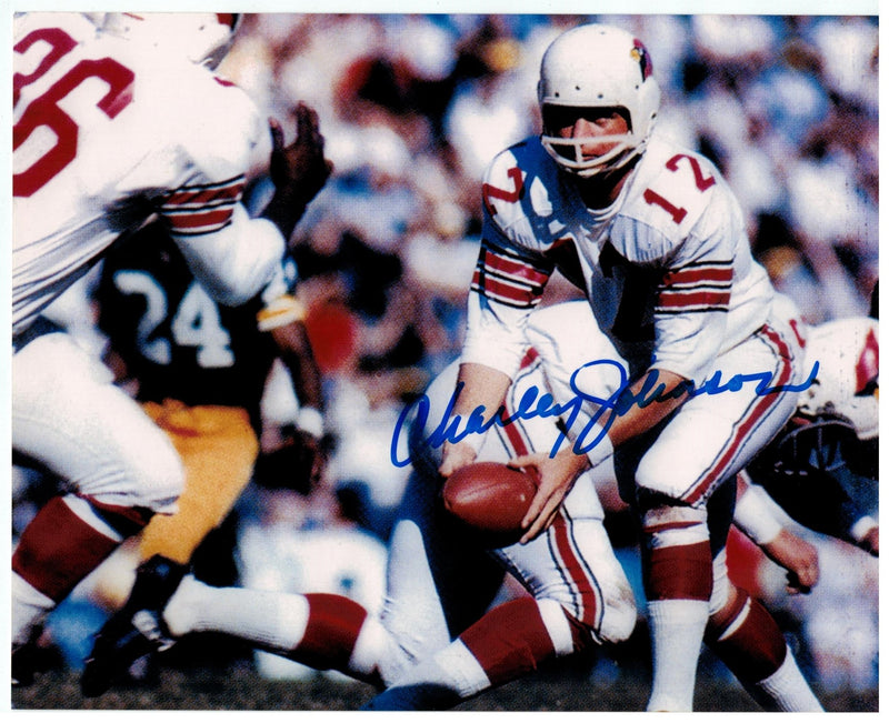 Charley Johnson St. Louis Cardinals (football) Autographed 8x10 Photo PSM-Powers Sports Memorabilia